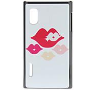 Colorful Lip Pattern Plastic Material Hard Case for LG E612(Optimus L5)