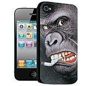 oranghi modello caso effetto 3d per iphone4/4s