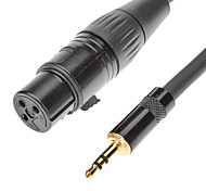 JSJ® 8M 26.24FT 3.5mm Stereo Male to XLR Female Cable Black for Microphone KTV
