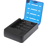 Soshine 4-Slot Li-ion Battery Smart Charger w/ 2-P Plug Adapter/Car Charger (for EU)