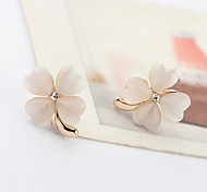 Korea Style Opal Flower Stud Earrings