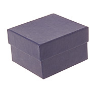 (1pc)Classic Dark Blue Paper Jewelry Box For Watch