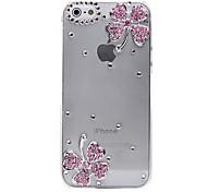 Cuatro hojas del trébol patrón de metal de la joyería de nuevo caso para el iPhone 5/5S