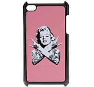 Shimmering Sexy Marilyn Monroe Pattern Hard Case for iPod touch 4