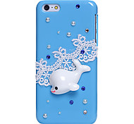 Casos Dolphin Jewel cobertos para iPhone 5C