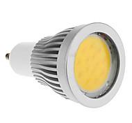 Focos GU10 7 W 1 COB 600-630 LM Blanco Cálido AC 85-265 V