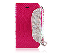 Zircone catena PU Leather Case Full Body per iPhone 4/4S (colori assortiti)
