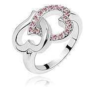 (1 Pc)Fashion Women's Silver Crystal Band Rings