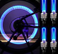 2 piezas de Ciclismo Motor Car Tire hablaron la luz LED azul / de la lámpara (baterías 3 x AG10)