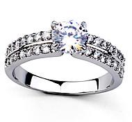 transparentes strass anneaux des femmes classiques (argent, or) (1 pc)