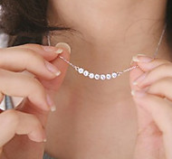 Necklace Pendant Necklaces Jewelry Party / Daily / Casual Fashionable Crystal / Alloy Silver 1pc Gift
