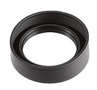 77mm 3-Fold Rubber Lens Hood pour Caméra-Noir