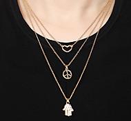 Mujer Collares con colgantes Collares de cadena Legierung Joyas Diario 3 piezas