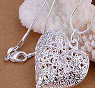Silver Pendant Necklaces Daily Jewelry