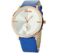 Women's Rose Gold Classical PU Band Analog Quartz Wrist Watch (Assorted Colors) Cool Watches Unique Watches