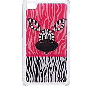 Lovely Big Eyes Zebra Pattern Epoxy Hard Case for iPod Touch 4