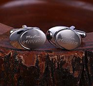 Personalized Gift Oval Engraved Cufflinks