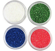4 Colors Laser Glitter Acrylic Powder Set For 3D Nail Art No.5