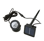 6-LED Cool White Light LED Outdoor Solar Powered LED Spotlight Lamp Waterproof