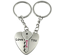 A Pair Love Style Silver Lover Keychains