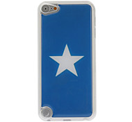 Simple Five-Pointed Star Pattern Epoxy Hard Case for iPod Touch 5