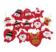 12PCS Papai Noel & cervos & Snow Man Decoração de Natal enfeites de