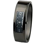 Women's Alloy Band Quartz Analog Bracelet Watch (Black & Silver)