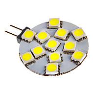 G4 3W 12x5050SMD 108LM 6000-7000K Cool White Light Bulb LED pour la voiture (12V DC)