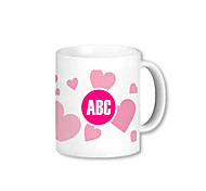 Personalizado Pink Heart Pattern Canecas