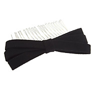 Fashion Dark Black/Dark Blue Fabric Hair Comb For Women