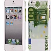 Dinheiro de países diferentes padrões caixa de plástico rígido de volta para o iPhone 5 iPhone 5S