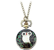 Women's Retro Owl Design Alloy Quartz Necklace Watch