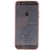 claro como el cristal cubierta del caso del tpu duro ultra fino transparente para 5/5s iphone (colores surtidos)