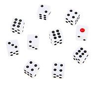 1cm 10 pcs White Polka Dot Dices