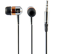 Kanen IP-309 Wooden Earphone Headphone Headset with Mic for iPhone iPad Music Player