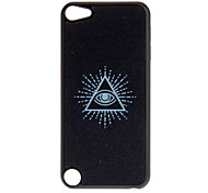 Shimmering Black Triangle Eye Pattern Hard Case for iPod touch 5