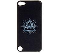 Shimmering Noir cas dur de modèle d'oeil Triangle pour iPod touch 5