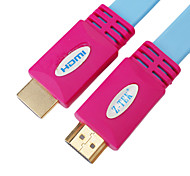 HDMI V1.4 M/M Cable Flat Type Blue(3M)