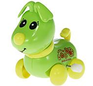 Plastic Green Cochain Little Dog Toy