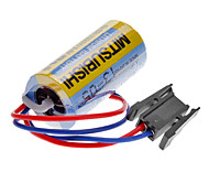 Mitsubishi A6BAT ER17330V 3.6V 2000mAh Lithium Battery Industrie w / Stecker