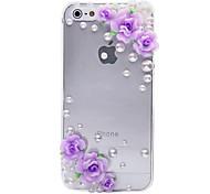 Cozy Flor patrón de metal de la joyería de nuevo caso para el iPhone 5/5S