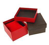 (1pc)Classic Red/Black Paper Jewelry Box For Watch