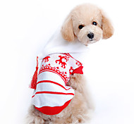 Christmas Style Deer Pattern Sweater with Hoodie for Pets Dogs (Assorted Sizes)