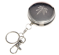 Stainless Steel Round Ashtray with Keychain