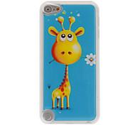 girafe drôle avec un étui rigide époxy motif de fleur pour ipod touch 5
