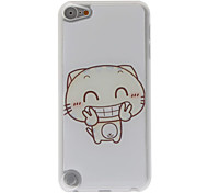 Cartoon Style Little Funny Smiling Tiger Pattern Epoxy Hard Case for iPod Touch 5