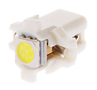 B8.5D 1x5050SMD 10-20LM 6000K Cool White Light LED Bulb for Car (12V,10pcs)