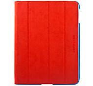 Custodia in pelle di colore di contrasto WIP29 EXCO per New iPad/iPad2 (colori Assotred)
