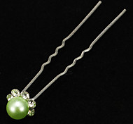 (1 Pc)Sweet Multicolor Pearl Hair Sticks For Women(Blue And More)