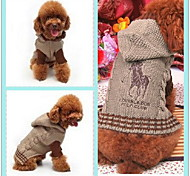 Horse Pattern Hooded Sweater with Sleeves for Dogs (XS-XL, Assorted Colors)